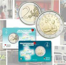 2 EURO ITALIA 2021 PROFESSIONI SANITARIE FDC COINCARD IN NUMIBOX