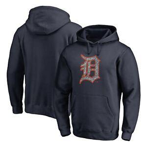 Detroit Tigers Fanatics Branded Static Logo Pullover Hoodie - Navy