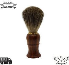 Luxury Brown Badger Hair Men Shaving Brush Wet Shave Removal Black Handle