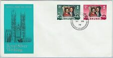 61267  - BRUNEI - POSTAL HISTORY - FDC COVER   SG # 210/11 1972- ROYALTY