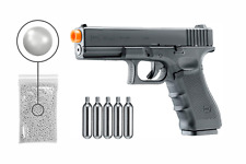 GLOCK G17 Gen4 C02 Blowback KWC Airsoft Pistol with CO2 Tanks and BBS Bundle