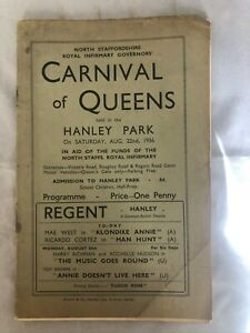 North Staffordshire Royal Infirmary Governors' Carnival Of Queens Held In 1936