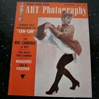 ART PHOTOGRAPHY Magazine 1954 September Vintage Marilyn Monroe
