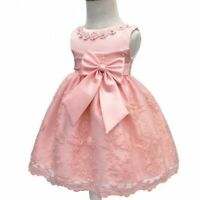 Kid baby flower girl tutu dresses princess bridesmaid dress wedding formal party