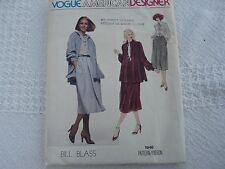 Vintage Vogue  1946 Bill Blass Designer  jacket top skirt Sewing Pattern size 10