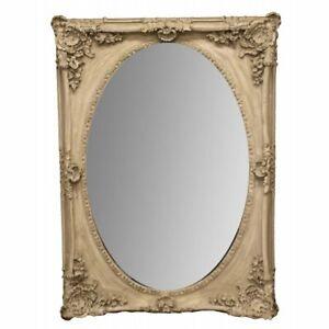 Large Grey Ornate Wall Mirror Shabby Chic Finish 110cm x 80cm New
