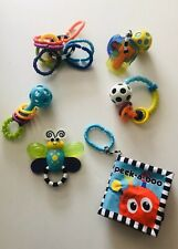 Sassy 6 Pc. Toy Gift Set-Ring o Links, Flutterby Teether, Book, Keys & 2 Rattles