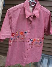 Women's Red Shirt by Bobbie Brooks; Size:  M