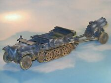 Pro BUILT 1/35 German WWII DEMAG D 7, SdKfz 10, with Nebelwerfer. Winter camo