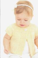 Vintage Baby Girls Cardigan Knitting Pattern,DK, 0-3 years 601015 Easy beginners