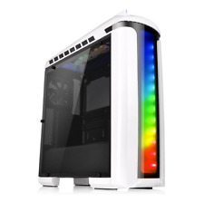 Thermaltake Gaming Computer Case Mid ATX Tower PC Parts Desktops Snow White RGB