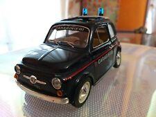 Rarissima fiat 500 Carabinieri Scala 1/21 Burago da collezione Usato