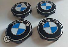 4x Logo pour BMW Centre de roue Cache Moyeu jante 60 mm bleu classique