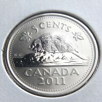2011 Specimen Canada 5 Cents Nickel Canadian Uncirculated Elizabeth II Coin N151