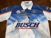 Kevin Harvick 2020 BUSCH CHAMP DARLINGTON Throwback Pit Crew Shirt WINNER XLTall