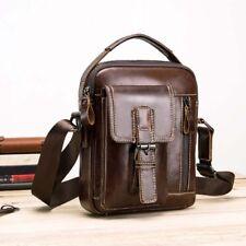 Men's Leather Shoulder Bags Satchel Tablet Bag Small Handbag Crossbody Messenger