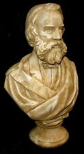 Poet Henry Wadsworth Longfellow Bust Statue Antique Reproduction Home Decor