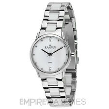 * nuevo * Skagen Ladies Swarovski Reloj-c878ssxw-RRP £ € 129,00