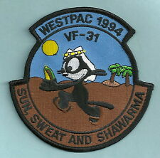 VF-31 TOMCATTERS NAVY FIGHTER SQUADRON PATCH WESTPAC 1994 FELIX