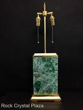 "Single Piece Natural Rock Crystal Modern Style W Green Quartz Lamp H 29"" W 9.5"""