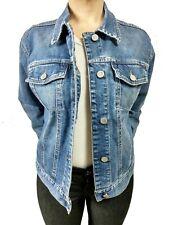 db7d82fe13684 Giacca jeans da donna Benetton taglia L stretch primaverile cotone blu  giubbino