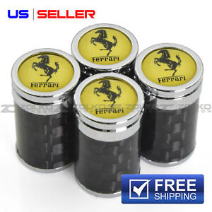 CARBON FIBER VALVE STEM CAPS  WHEEL TIRE FOR FERRARI VC20 - US SELLER