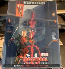 "ULTIMATE DEADPOOL Epic Marvel 1/4 Scale 18"" Action Figure NECA"