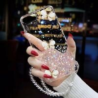 F OPPO AX7 Reno 4 A52 A72 A92 Cute Bling Glitter Shockproof Butterfly Soft Cover