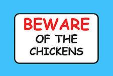 Desconfíe de los pollos Pet Pollo Aves de Corral signo de vinilo pegatina de explotación ganadera B47