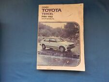 Clymer Toyota Tercel, 1980-1982 : Shop Manual Repair & Tune up Guide