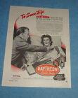 Antique 1945 Ad Raytheon Tubes Electronic Stethoscope