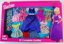 Barbie 10-Fashion Gift Set 68210-95 Includes Short Sleeve Purple Gown (New)