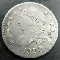 1820 Capped Bust Dime Small 0 JR-3 R-4 Extremely Fine Details Couple Obv Spots