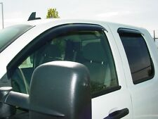 Chevy Silverado Extended Cab 2500/3500 2007 - 2014 Tape-On Wind Vent Visors 4pc