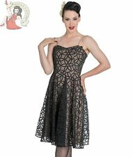 HELL BUNNY BEV DRESS party cocktail FLORAL prom BLACK