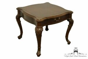 """CENTURY FURNITURE Chippendale Style Bookmatched Mahogany 26"""" Square Accent En..."""