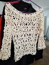 Two Vintage Lace tops style blouse one handmade 100 % cotton med-large