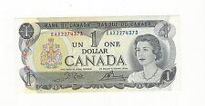 **1973**Canada $1 Note Crow/Bouey # EAX 2274373 BC-46bA