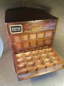 Large Vintage Perivale Sewing Thread Cabinet Display