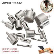 15Pcs 6-50mm Diamond Hole Saw Drill Bit Set 100 Grits Tile Ceramic Glass Marble