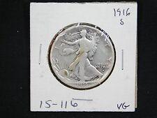 1916-S Walking Liberty Half Dollar  VG  (15-116)