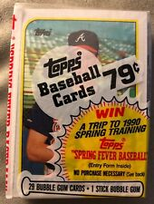 1989 Topps Cello Pack Tom Glavine Braves (Top) Todd Worrell Cardinals (Back)