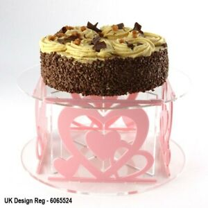 Love Hearts Cake Stand - 54 Colours - Flat Pack - Baking - Wedding - Birthday