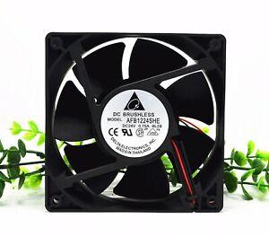Delta AFB1224SHE 12038 DC24V 0.75A 2-pin large air volume inverter cooling fan