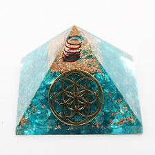Turquoise Pyramid Reiki Gemstones Energy Generator Spiritual Orgone Stone