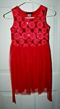 Disorderly Kid sHoliday Red Girls Dress w/sequins size 6/7 pre-owned