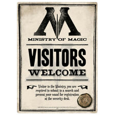 Harry Potter 'Ministry of Magic' Tin Sign Small A5 Size