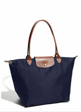 Longchamp New Le Pliage Nylone Tote Handbag Navy Blue Large Authentic France
