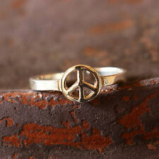 Peace Symbol Toe Ring Sterling Silver New Adjustable Jewelry Shipping Included