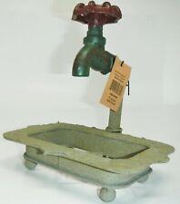"Creative Co-Op DE1895 7""L Rustic Iron Soap Holder with Faucet"